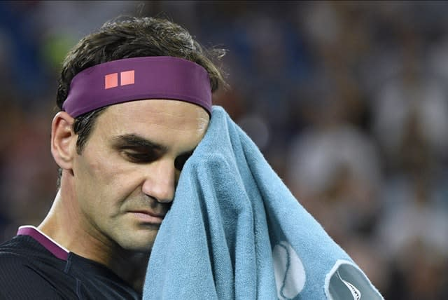 Roger Federer did not take his chance in the first set (Andy Brownbill/AP)