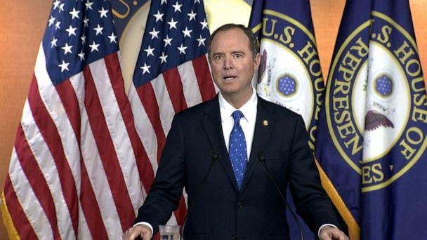 PHOTO: Rep. Adam Schiff holds a press conference, Dec. 3, 2019, in Washington, DC. (ABC News)