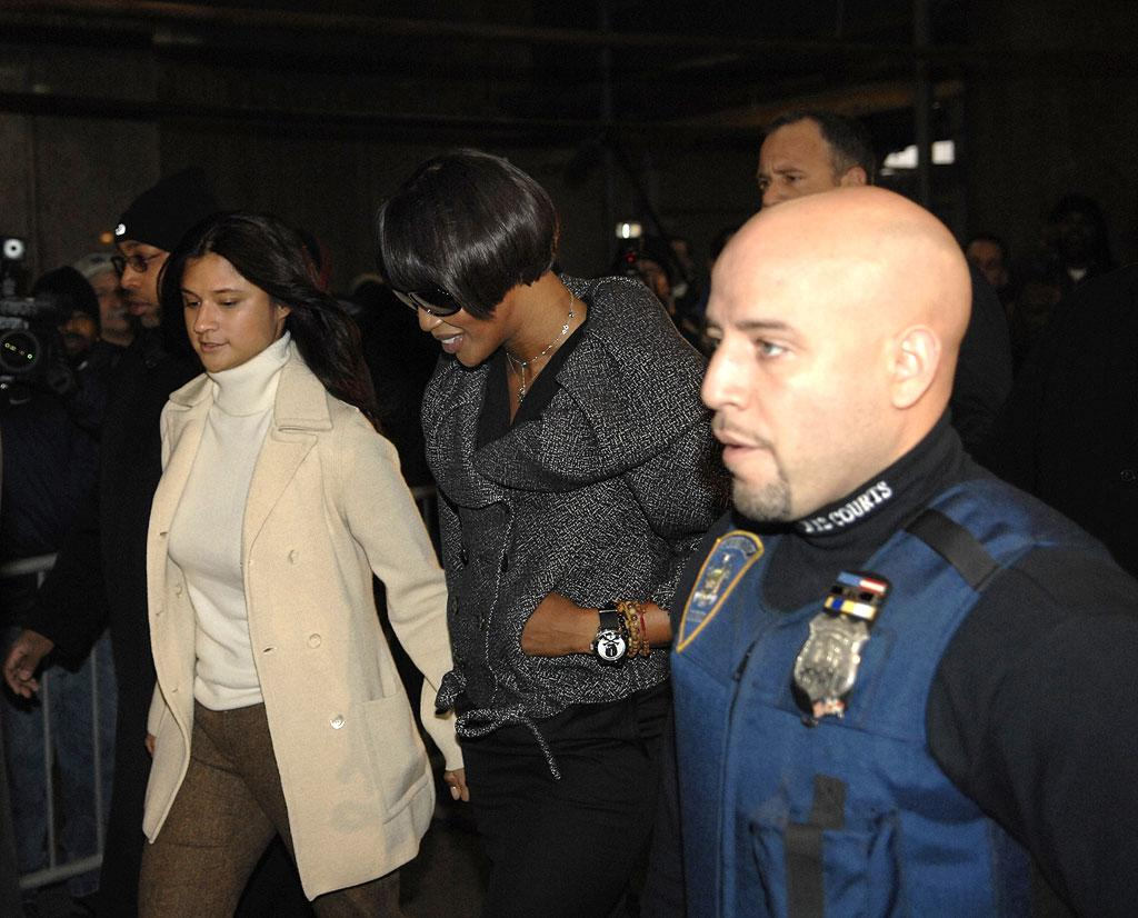 "Naomi Campbell arrives at the New York Criminal Court for a Control Hearing on her assault case. Steve Granitz/<a href=""http://www.wireimage.com"" target=""new"">WireImage.com</a> - January 16, 2007"