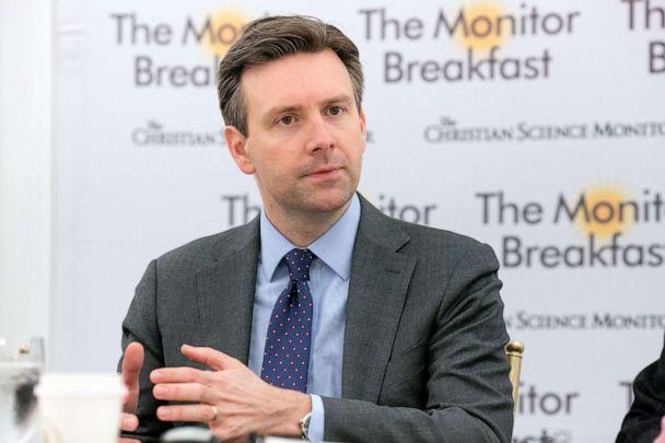 PHOTO: Josh Earnest speaks at the St. Regis Hotel, on January 18, 2017 in Washington, DC. (Michael Bonfigli/The Christian Science Monitor via Getty Images)