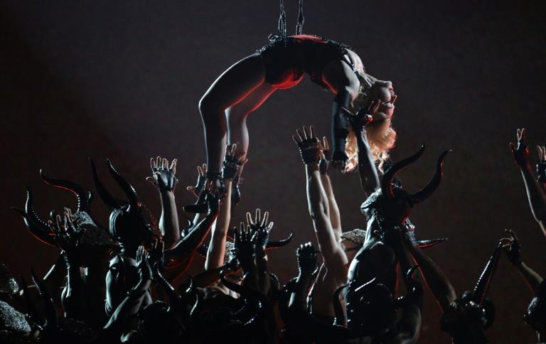 Madonna performs during the 57th Annual Grammy Awards in Los Angeles, California, in 2015