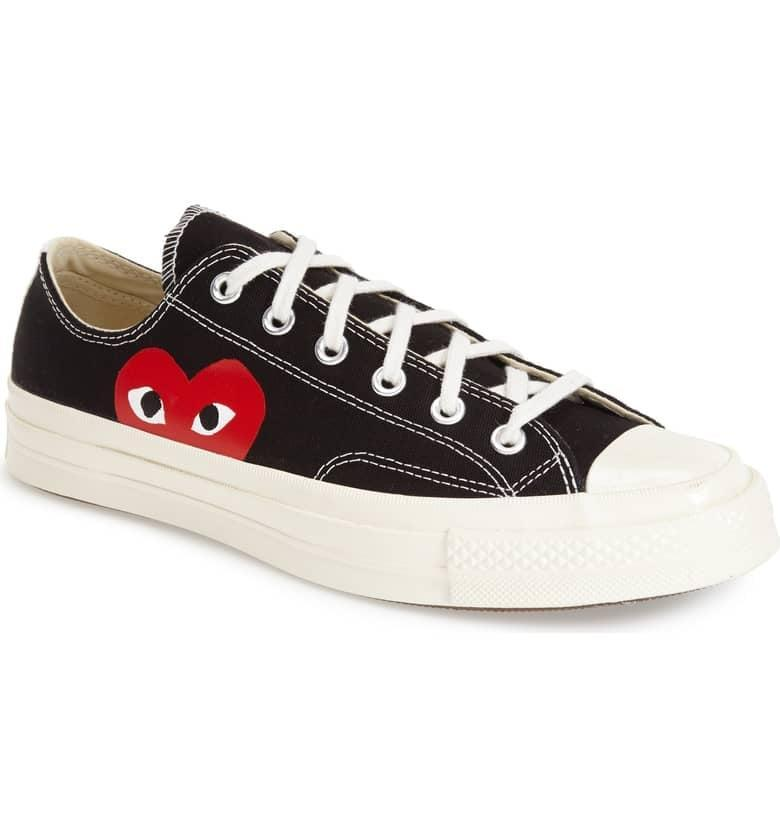 <p>This <span>Comme des Garçons PLAY x Converse Chuck Taylor Hidden Heart Low Top Sneaker</span> ($150) is a playful take on the classic sneaker.</p>