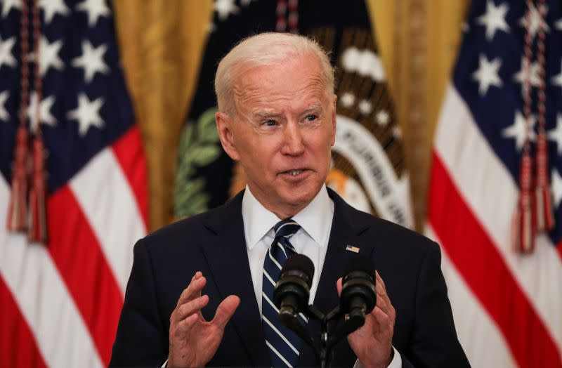 U.S. President Joe Biden holds news conference at the White House in Washington