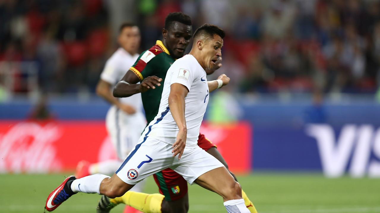 The Arsenal forward came off the bench to play a key role in both goals as the Copa America champions beat Cameroon at the Confederations Cup