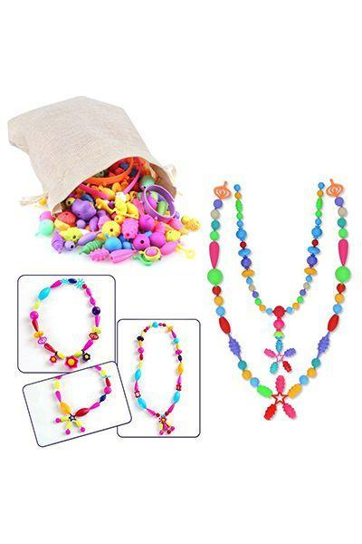 """<p>$20 for 500 pieces</p><p><a rel=""""nofollow noopener"""" href=""""https://www.amazon.com/Beads-Together-Toddlers-Creative-Jewelry/dp/B078S7KW9V/ref=pd_ybh_a_31"""" target=""""_blank"""" data-ylk=""""slk:SHOP NOW"""" class=""""link rapid-noclick-resp"""">SHOP NOW</a><br></p><p>This jewelry-making kit lets kids pop together plastic pieces to make bracelets, necklaces, headbands, you name it. All done? Break it down so they can start over again.</p>"""