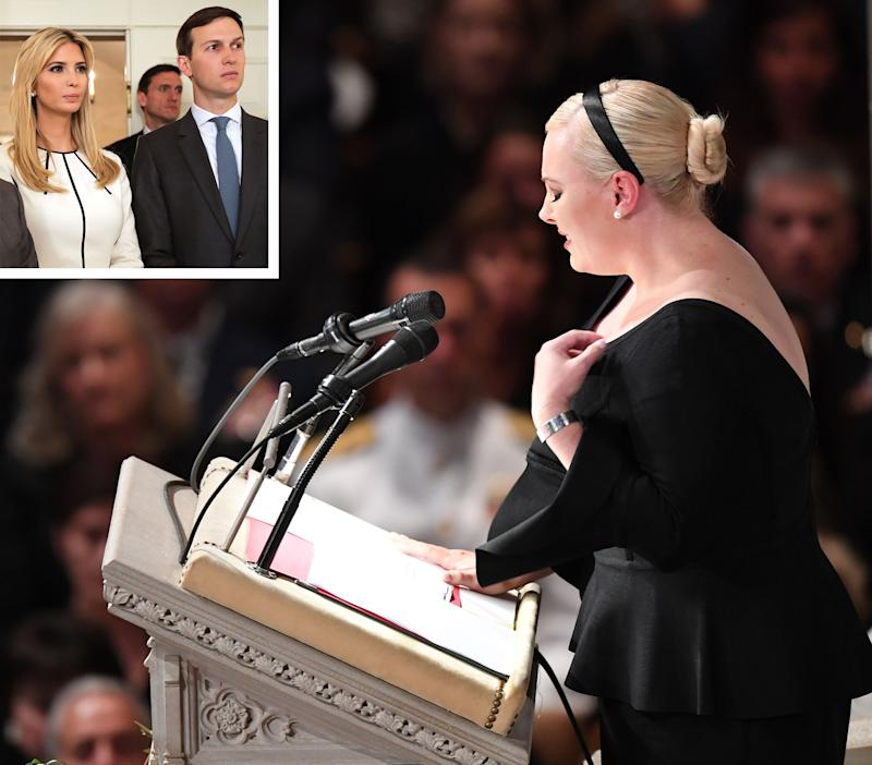 Meghan Mccain Before And After: Meghan McCain Didn't Know Jared & Ivanka Would Be At Dad's