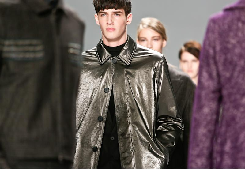 Fashion from the Fall 2013 collection of Richard Chai is modeled on Thursday, Feb. 7, 2013 in New York. (AP Photo/Bebeto Matthews)