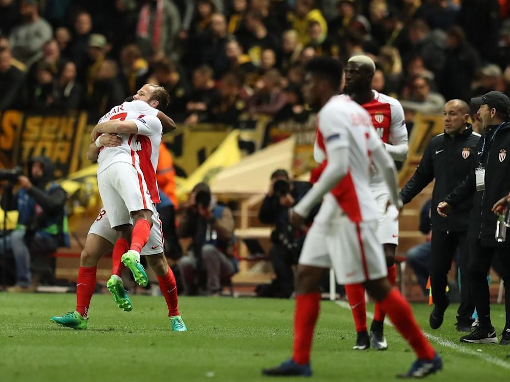 Monaco's players after the final whistle (Getty)