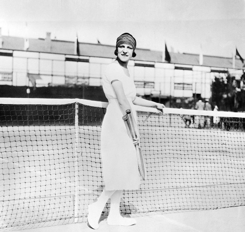 <p>From her white silk dresses to her penchant for cognac-soaked sugar cubes, French tennis star Suzanne Lenglen was a controversial yet fierce competitor in the '20s. Lenglen dominated the Olympic games in Antwerp, Belgium, taking home a total of three gold medals—two of those gold—and securing her title as number one in the world. </p>