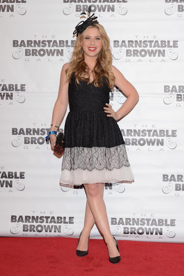 LOUISVILLE, KY - MAY 02: Tara Lipinski attends the Barnstable Brown Kentucky Derby Eve Gala at Barnstable Brown House on May 2, 2014 in Louisville, Kentucky. (Photo by Vivien Killilea/Getty Images)