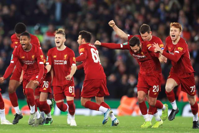 Curtis Jones hits shootout winner for Liverpool after dramatic draw at Anfield