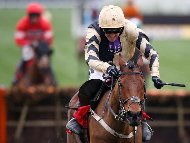 Ruby Walsh rode Nichols Canyon to victory in the Stayers' Hurdle: Getty