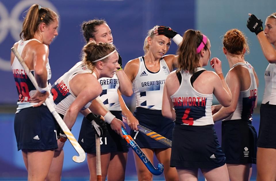 Great Britain's women's hockey team are one win away from guaranteeing a medal in Tokyo (Joe Giddens/PA) (PA Wire)