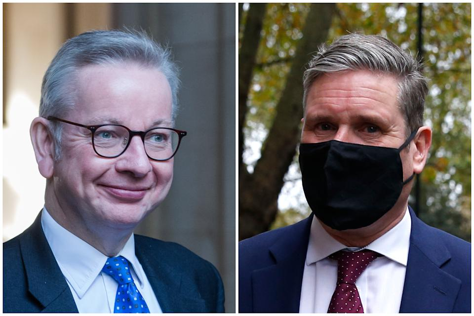 A Labour MP told Michael Gove to 'do one' over his criticism of Sir Keir Starmer. (Getty Images)