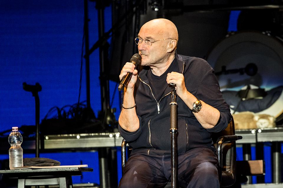 MILAN, ITALY - JUNE 17: English singer and multi-instrumentalist Phil Collins performs live on stage for the Italian date of his Still Not Dead Yet Live tour 2019. Milan (Italy), June 17th, 2019 (photo by Elena Di Vincenzo/Archivio Elena Di Vincenzo/Mondadori via Getty Images)