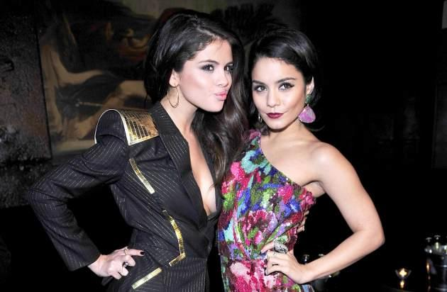 Selena Gomez and Vanessa Hudgens at the Berlin of 'Spring Breakers' on Tuesday