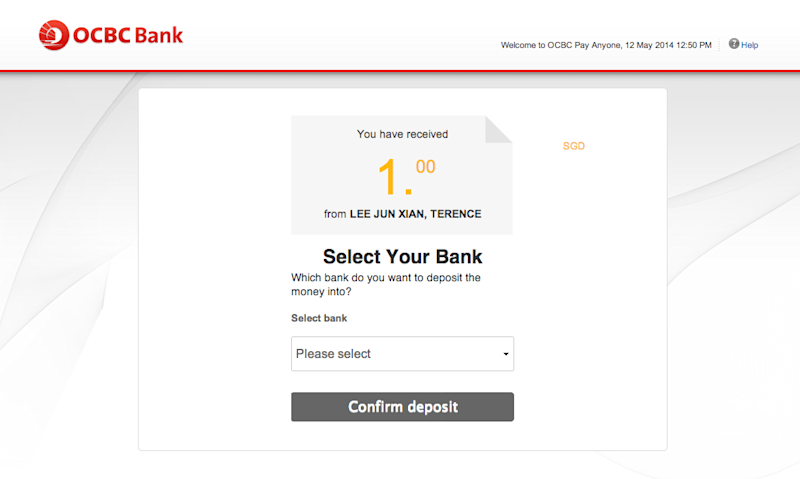 Bank transfer not received