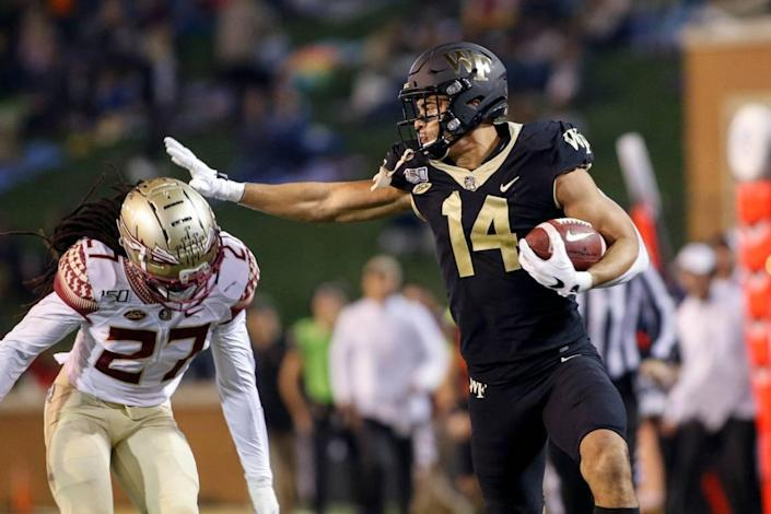 Former Wake Forest wide receiver Sage Surratt could be an option for the Panthers.