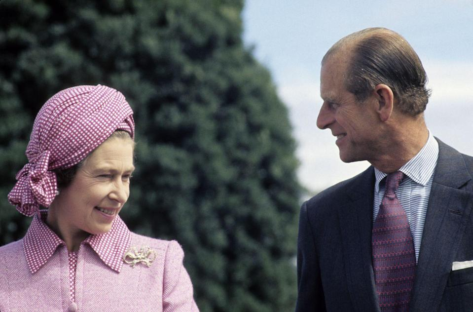 """<p>The Queen and Prince Philip smile warmly at each other during the Queen's Silver <a href=""""https://www.goodhousekeeping.com/uk/news/a566653/queen-sapphire-jubilee/"""" rel=""""nofollow noopener"""" target=""""_blank"""" data-ylk=""""slk:Jubilee"""" class=""""link rapid-noclick-resp"""">Jubilee</a> Tour in New Zealand in 1977.</p>"""