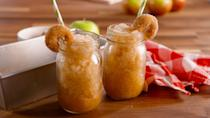 "<p>Cinnamon-sugar mini donut optional, but highly encouraged.</p><p>Get the recipe from <a href=""https://www.delish.com/cooking/recipes/a49600/apple-cider-slushies-recipe/"" rel=""nofollow noopener"" target=""_blank"" data-ylk=""slk:Delish"" class=""link rapid-noclick-resp"">Delish</a>.</p>"