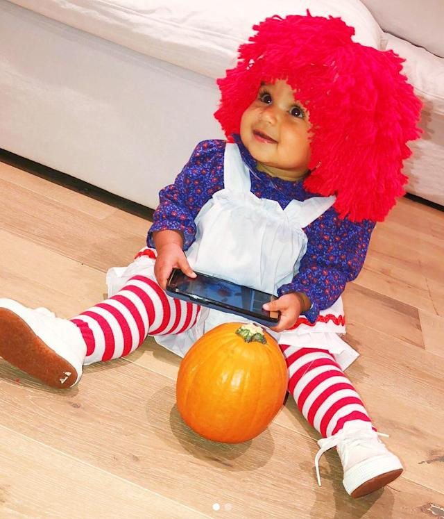 "<p>Dream was adorable as Raggedy Ann on <a href=""https://www.instagram.com/p/Ba7ozI6lSXF/?hl=en&taken-by=blacchyna"" rel=""nofollow noopener"" target=""_blank"" data-ylk=""slk:her first Halloween"" class=""link rapid-noclick-resp"">her first Halloween</a>. Who wouldn't give this cutie all of their candy? (Photo: Instagram/Blac Chyna) </p>"