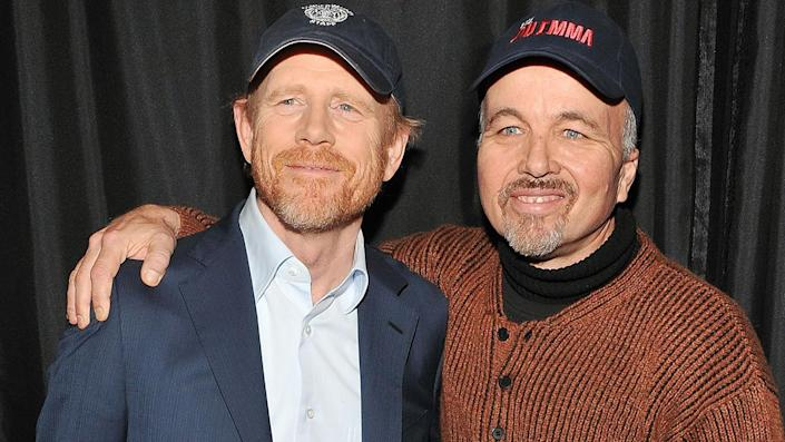 """Director Ron Howard and actor Clint Howard penned a memoi, titled, 'The Boys,' in which they reflect on their lives growing up on Hollywood sets with their parents, actors Rance and Jean Howard. <span class=""""copyright"""">Photo by Slaven Vlasic/FilmMagic</span>"""
