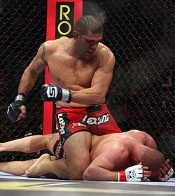 "Antonio ""Bigfoot"" Silva brutalized Fedor Emelianenko (on ground), who hinted at retirement following his loss to Silva"