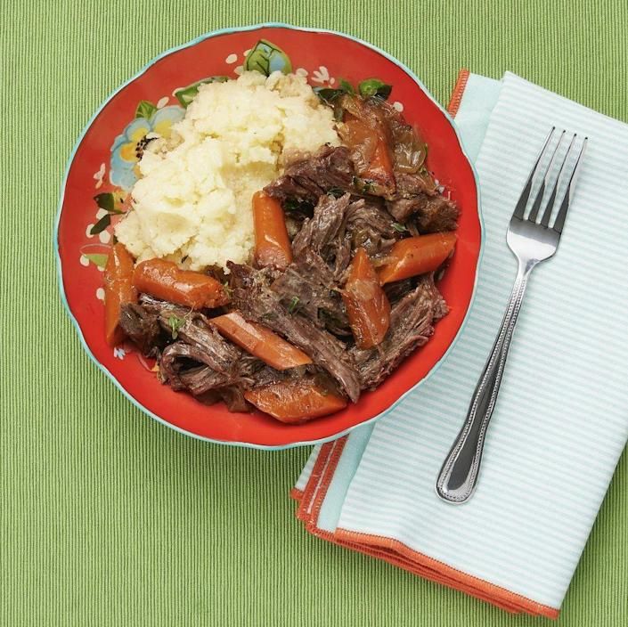 """<p>If you're so busy playing and doing activities that dinner is an afterthought this Father's Day, you can rely on your trusty Instant Pot for a speedy meal. Try this pot roast dinner he'll definitely love.</p><p><strong><a href=""""https://www.thepioneerwoman.com/food-cooking/recipes/a99178/instant-pot-pot-roast/"""" rel=""""nofollow noopener"""" target=""""_blank"""" data-ylk=""""slk:Get the recipe."""" class=""""link rapid-noclick-resp"""">Get the recipe.</a></strong></p><p><a class=""""link rapid-noclick-resp"""" href=""""https://go.redirectingat.com?id=74968X1596630&url=https%3A%2F%2Fwww.walmart.com%2Fip%2FInstant-Pot-6-Quart-Duo-Electric-Pressure-Cooker-7-in-1-Yogurt-Maker-Food-Steamer-Slow-Cooker-Rice-Cooker-More-Pioneer-Woman-Frontier-Rose%2F480096307&sref=https%3A%2F%2Fwww.thepioneerwoman.com%2Fholidays-celebrations%2Fg36333267%2Ffathers-day-activities%2F"""" rel=""""nofollow noopener"""" target=""""_blank"""" data-ylk=""""slk:SHOP INSTANT POTS"""">SHOP INSTANT POTS</a></p>"""