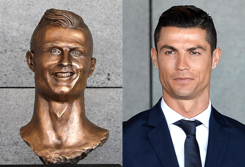 """<p>A bronze bust of the soccer star was unveiled in March 2017, when an airport was named after him in his hometown of Madeira, Portugal. And it was an immediate hit — on the Internet, where the word """"nightmare"""" was mentioned <i>a lot</i>. By the end of the day, the statue <a rel=""""nofollow"""" href=""""https://twitter.com/RonaldoStatue"""">had its own Twitter account</a>. """"I'm fairly new to Twitter, and the world, but… people are mean"""" was one of its first posts. (Photo: Getty Images) </p>"""