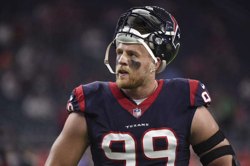 Houston Texans defensive end J.J. Watt raised more than $37 million for Hurricane Harvey relief efforts. (AP)