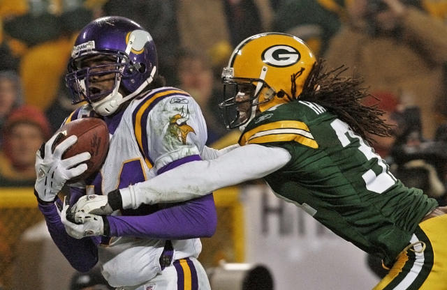 Randy Moss is a Pro Football Hall of Fame finalist for the first time. (AP)