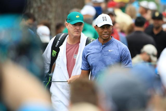 """<h1 class=""""title"""">Tiger Woods 2019 Masters - Preview Day 1</h1> <div class=""""caption""""> Tiger Woods is in contention to win a sixth green jacket in our alternate universe. </div> <cite class=""""credit"""">(Photo by Andrew Redington/Getty Images)</cite>"""