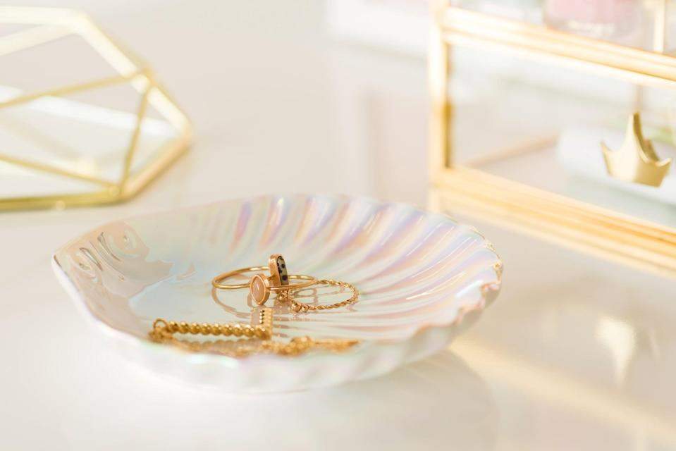 <p>Store your everyday jewelry in thi stunning <span>Disney Princess X POPSUGAR Ariel Shell Trinket Tray</span> ($10). It's a is a gorgeous home decor piece that will make you feel like Ariel.</p>