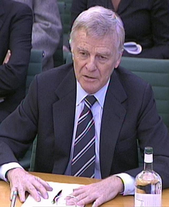 Max Mosley gives evidence to the Culture, Media and Sport Committee about his treatment by the media