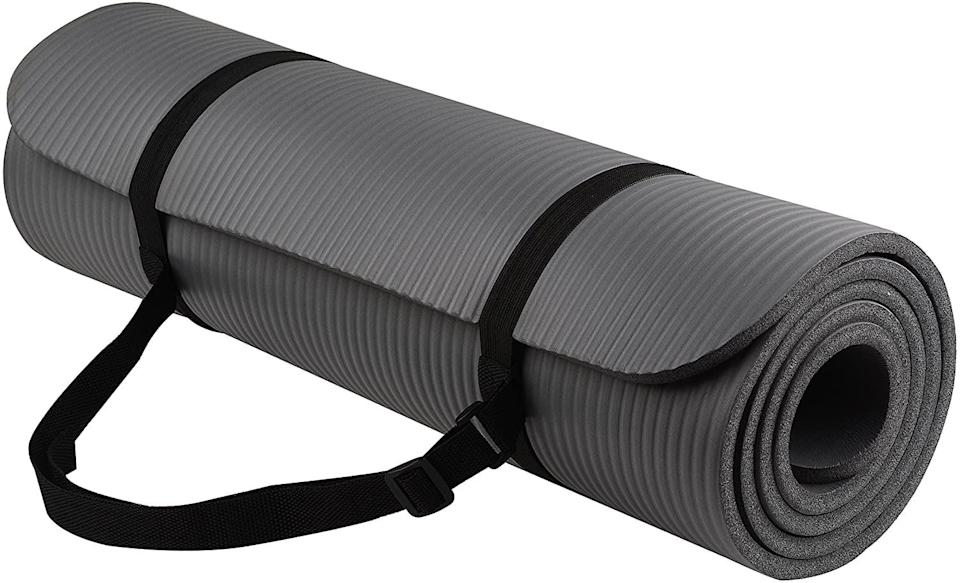 <p>I got this affordable <span>BalanceFrom GoYoga All-Purpose 1/2-Inch Extra Thick Yoga Mat</span> ($23), and it has been life-changing. It's not the mat I would recommend for balancing complex yoga poses, but if you're doing exercises on the floor, this is super padded and comfortable.</p>