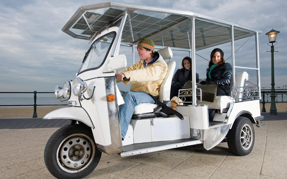 A solar powered tuktuk - Getty