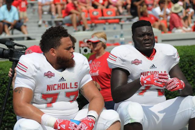 Ronald Ollie (72) transferred to Nicholls State after his time at East Mississippi Community College, the school featured on the first two seasons of Netflix series Last Chance U. (Getty Images)