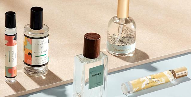 "<p>Smelling good shouldn't be relegated to one person. Target's newest launch of 16 scents in perfume, body spray, and rollerball versions at a healthy price point makes smelling like your significant other even more attainable. Although some of the<a href=""https://www.target.com/bp/good+chemistry"" rel=""nofollow noopener"" target=""_blank"" data-ylk=""slk:Good Chemistry fragrances"" class=""link rapid-noclick-resp""><span> Good Chemistry fragrances</span></a> have a more feminine print and scent, many of them are gender neutral and all are <a href=""https://www.yahoo.com/lifestyle/what-you-need-to-know-about-essential-oils-128029397268.html"" data-ylk=""slk:produced with essential oils;outcm:mb_qualified_link;_E:mb_qualified_link"" class=""link rapid-noclick-resp newsroom-embed-article""><span>produced with essential oils</span></a>. ($10 to $25, <a href=""https://www.target.com/"" rel=""nofollow noopener"" target=""_blank"" data-ylk=""slk:target.com"" class=""link rapid-noclick-resp""><span>target.com</span></a>) (Photo: Good Chemistry) </p>"