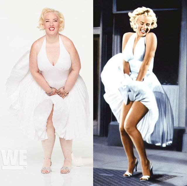 Mama June does her best Marilyn Monroe. (Photo: WE TV/Everett Collection)