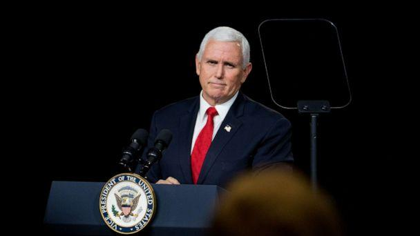 PHOTO: Vice President Mike Pence speaks during a visit to Rock Springs Church to campaign for GOP Senate candidates on Jan. 4, 2021, in Milner, Ga. (Megan Varner/Getty Images)