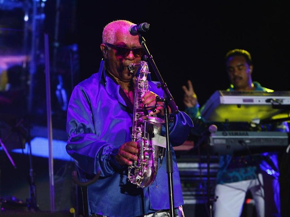 The musician performing at the 11th Annual Jazz In The Gardens Music Festival, Miami, in March 2016  (Getty)