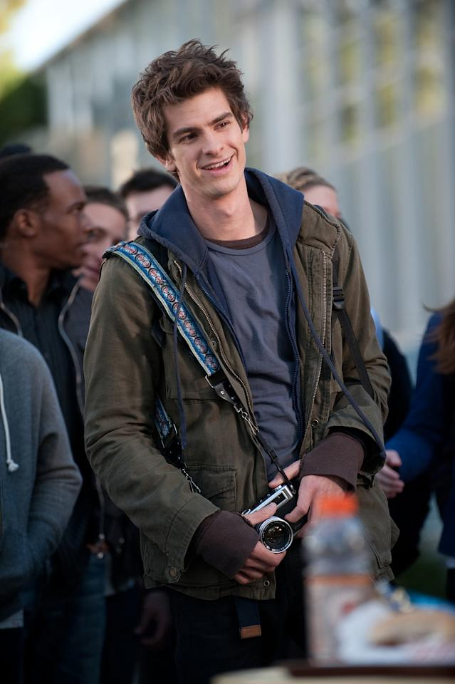 """Andrew Garfield in Columbia Pictures' """"<a href=""""http://movies.yahoo.com/movie/the-amazing-spiderman/"""">The Amazing Spider-Man</a>"""" - 2012"""