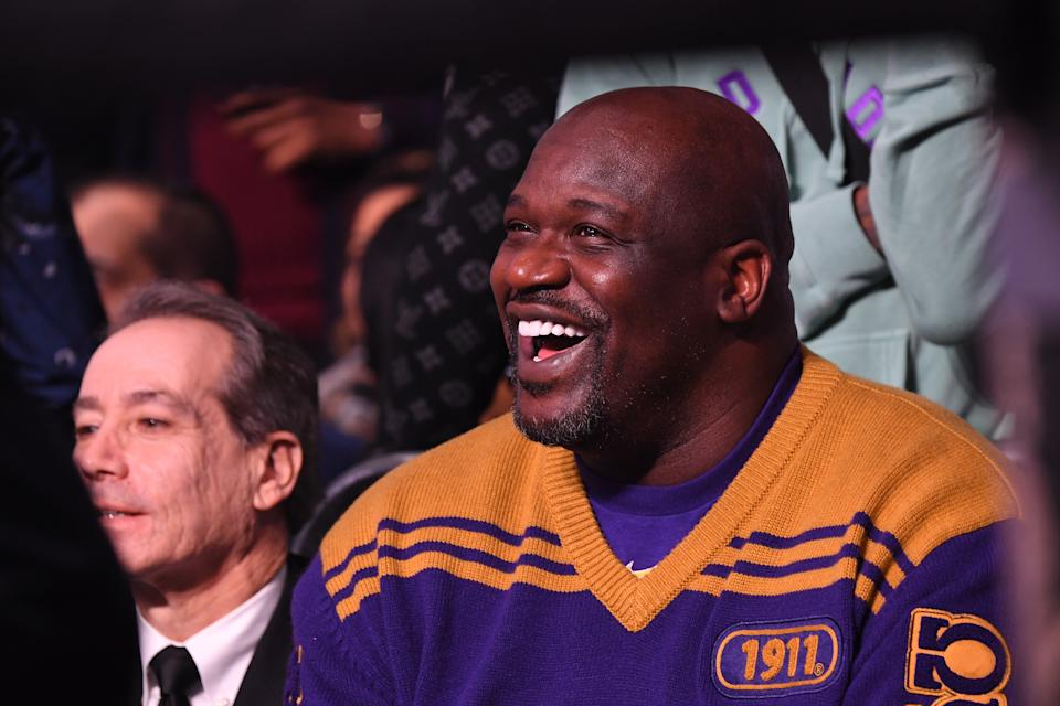 Despite the coronavirus pandemic stopping fans from attending matches in England, Shaquille O'Neal has found a way in.