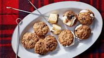 "<p>Upgrade basic oatmeal cookies with a sweet, chewy, and oh so decadent combination of bittersweet chocolate, chopped pecans, <a href=""https://www.marthastewart.com/2224238/guide-coconut-milk-coconut-oil-coconut-food-products"" rel=""nofollow noopener"" target=""_blank"" data-ylk=""slk:unsweetened shredded coconut"" class=""link rapid-noclick-resp"">unsweetened shredded coconut</a>, and jumbo marshmallows. <a href=""https://www.marthastewart.com/1523993/cowboy-cookie-smores"" rel=""nofollow noopener"" target=""_blank"" data-ylk=""slk:View recipe"" class=""link rapid-noclick-resp""> View recipe </a></p>"