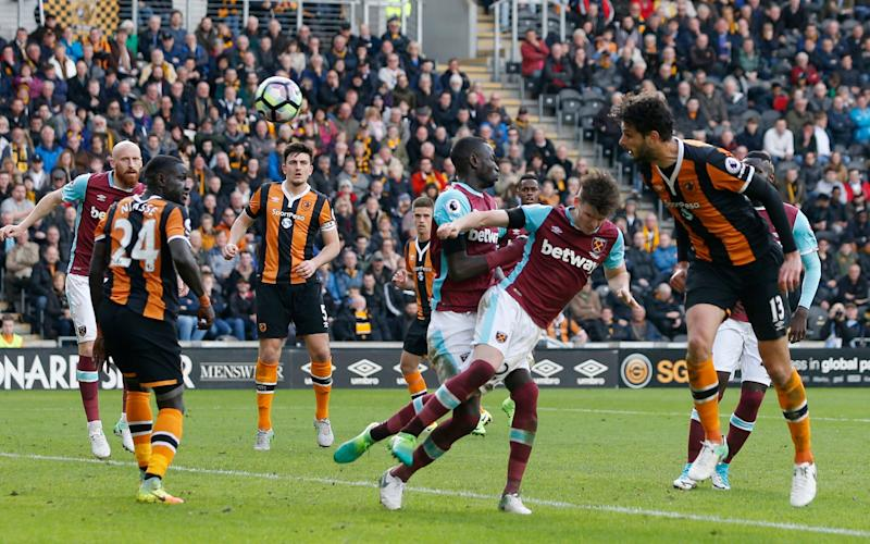 Andrea Ranocchia scored Hull's second goal