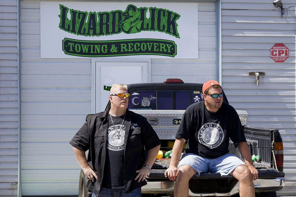 """Ron Shirley and Bobby Brantley in """"Lizard Lick Towing."""""""