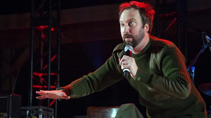 """<p>Comedian Tom Green hosted """"The Tom Green Show"""" (not the green Tom show) from 1999 to 2003. He also appeared in a number of movies in the early 2000s, including """"Charlie's Angels"""" (2000) and """"Road Trip"""" (2000). Nowadays, he's taken his comedy to YouTube and podcasts.</p> <p><a href=""""https://www.gobankingrates.com/net-worth/celebrities/how-rich-is-tom-green/?utm_campaign=1118697&utm_source=yahoo.com&utm_content=11&utm_medium=rss"""" rel=""""nofollow noopener"""" target=""""_blank"""" data-ylk=""""slk:Click through to find how much Green is worth."""" class=""""link rapid-noclick-resp"""">Click through to find how much Green is worth.</a></p> <p><em><strong>Read More: </strong></em><em><strong><a href=""""https://www.gobankingrates.com/net-worth/celebrities/pr-nightmares-that-cost-celebrities-big-bucks/?utm_campaign=1118697&utm_source=yahoo.com&utm_content=12&utm_medium=rss"""" rel=""""nofollow noopener"""" target=""""_blank"""" data-ylk=""""slk:PR Nightmares That Cost Celebrities Big Bucks"""" class=""""link rapid-noclick-resp"""">PR Nightmares That Cost Celebrities Big Bucks</a></strong></em></p> <p><small>Image Credits: Sgt. Canaan Radcliffe / Wikimedia Commons</small></p>"""