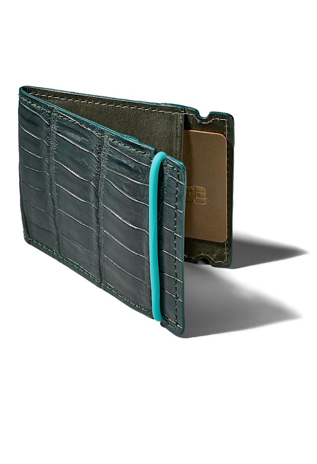"A luxe leather cash cover to keep your green safe and stylish. <a href=""https://blairsbelts.com/products/cash-covers"" rel=""nofollow noopener"" target=""_blank"" data-ylk=""slk:Available at blairsbelts.com  BUY NOW: $295"" class=""link rapid-noclick-resp""><em>Available at blairsbelts.com</em><br> <strong>BUY NOW</strong>: $295</a>"