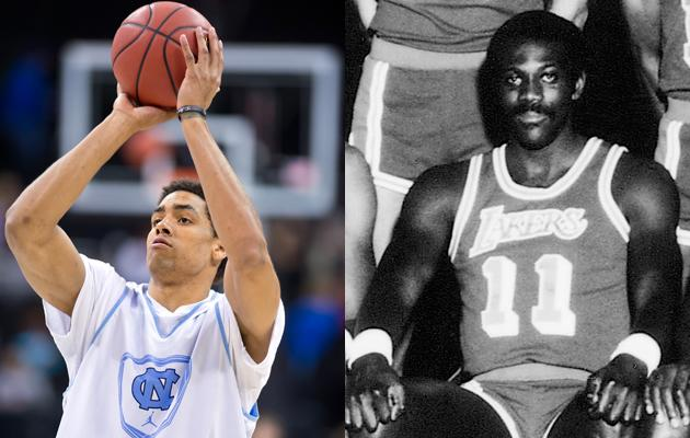 North Carolina's James McAdoo comes from a legacy of basketball players. His uncle is Bob McAdoo, who won the NBA championship twice with the Lakers in the '80s. He is currently assistant coach for the Miami Heat. Both of his parents played basketball at Old Dominion and played professionally in Europe. His older sister Kelsey plays basketball for the University of North Carolina Charlotte.