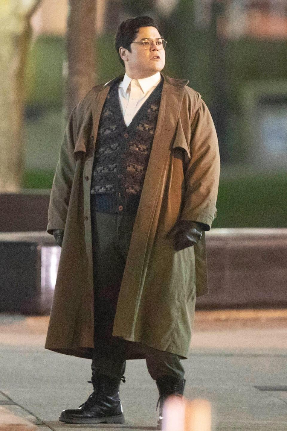 <p>Harvey Guillen gets into character on Thursday on the Toronto set of <em>What We Do In The Shadows</em> season 3.</p>